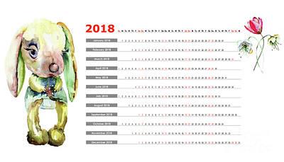Painting - 2018 Calendar by Regina Jershova