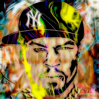 50 Mixed Media - 50 Cent Collection by Marvin Blaine