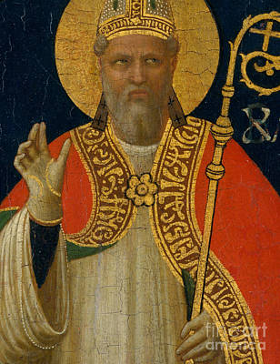 Painting - A Bishop Saint by Fra Angelico