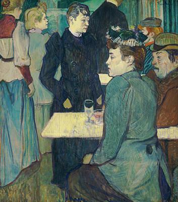 Inside Painting - A Corner Of The Moulin De La Galette by Henri de Toulouse-Lautrec