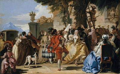 Painting - A Dance In The Country by Giovanni Domenico Tiepolo