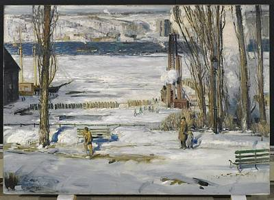 Snow Painting - A Morning Snow by George Wesley
