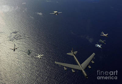 A U.s. Air Force B-52 Stratofortress Print by Stocktrek Images
