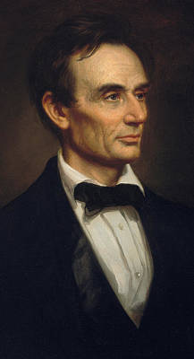 Anti-slavery Painting - Abraham Lincoln by George Peter Alexander Healy