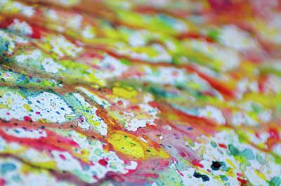 Childish Art Mixed Media - Abstract Art Of Vivid Bright Colorful Watercolor Splash And Drop by Olga Gerasimenko