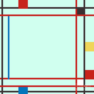 Piet Painting - Abstract Composition 06 Piet Mondrian Style by Celestial Images