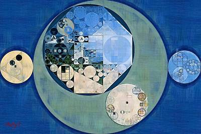 Art Print featuring the photograph Abstract Painting - Bermuda Grey by Vitaliy Gladkiy