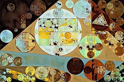 Turmeric Digital Art - Abstract Painting - Brown Pod by Vitaliy Gladkiy