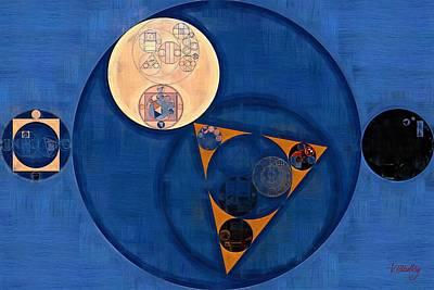 Ornamental Digital Art - Abstract Painting - Lapis Lazuli by Vitaliy Gladkiy