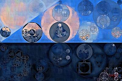 Fanciful Digital Art - Abstract Painting - Oxford Blue by Vitaliy Gladkiy