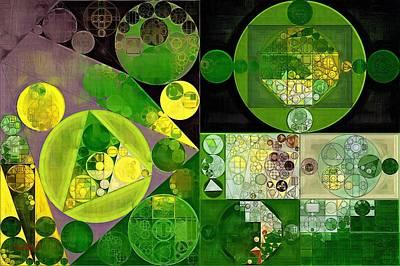 Green Geometry Art Digital Art - Abstract Painting - Phthalo Green by Vitaliy Gladkiy