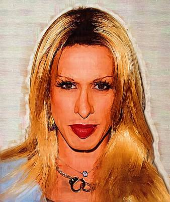 Bruce Jenner Digital Art - Actress Alexis Arquette by Best Actors