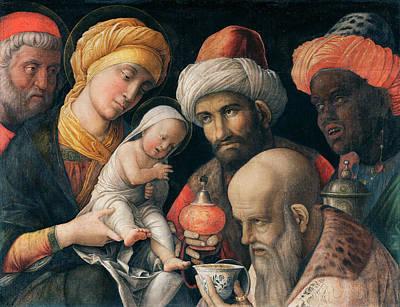 Xmas Painting - Adoration Of The Magi by Andrea Mantegna