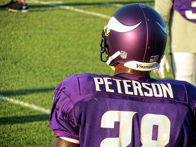 Photograph - Adrian Peterson by Kyle West