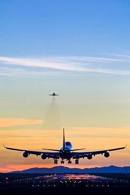 Airlines Photograph - Aeroplane Landing, Canada by David Nunuk