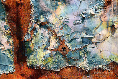 Photograph - Aged Railroad Sign Paint by Paul W Faust - Impressions of Light