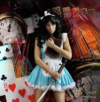 Illusory Photograph - Alice In Wonderland by Oleksiy Maksymenko