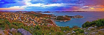 1-war Is Hell Royalty Free Images - Amazing colorful sunset panorama of Pakostane archipelago Royalty-Free Image by Brch Photography