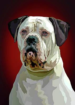 American Bulldog Art Print by Alexey Bazhan