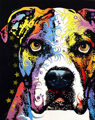 Akc Painting - American Bulldog by Dean Russo