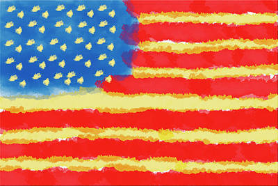 American Flag Art Print by Skip Nall