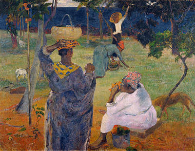 Paul Gauguin Painting - Among The Mangoes At Martinique by Paul Gauguin