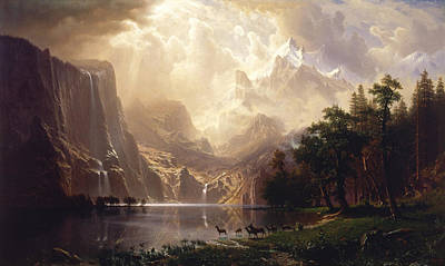 Photograph - Among The Sierra Nevada, California by Albert Bierstadt