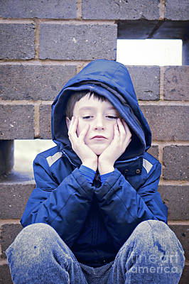 Hoodie Photograph - An Upset Child by Tom Gowanlock