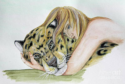 Painting - Anam Leopard by Lorah Buchanan