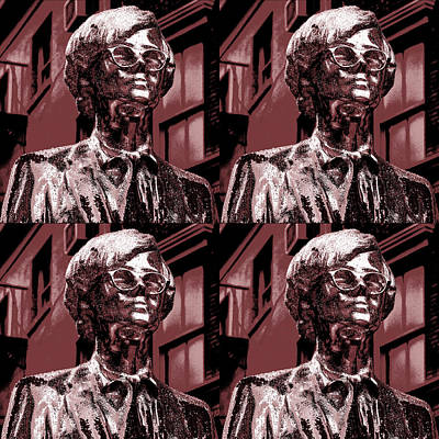 Andy Warhol Statue Union Square Nyc  Print by Robert Ullmann