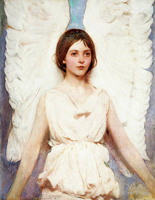 Angel Art Painting - Angel by Abbott Handerson Thayer