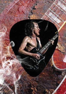 Acdc Mixed Media - Angus Young Ac Dc by Marvin Blaine
