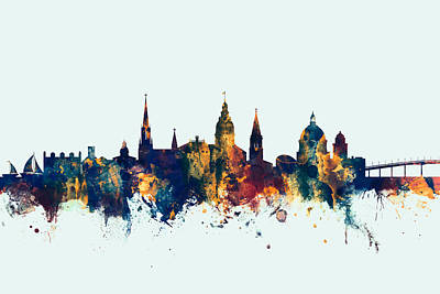 Annapolis Maryland Skyline Art Print
