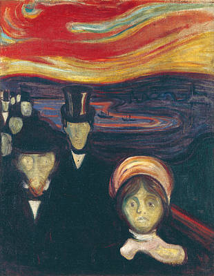 Disorder Painting - Anxiety by Edvard Munch