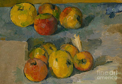 Pantries Painting - Apples by Paul Cezanne