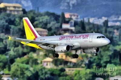 Painting - Arriving At Corfu Airport by George Atsametakis