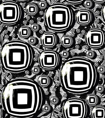 Sterling Silver Digital Art - Artful Oasis Abstract by Belinda Cox