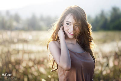 Portraits Digital Art - Asian by Super Lovely
