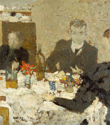 Painting - At Table by Edouard Vuillard