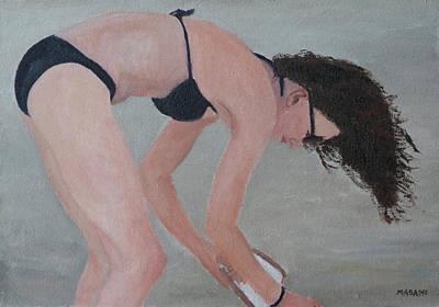 Painting - At The Beach by Masami Iida