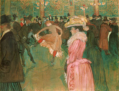 Painting - At The Moulin Rouge by Henri De Toulouse-Lautrec