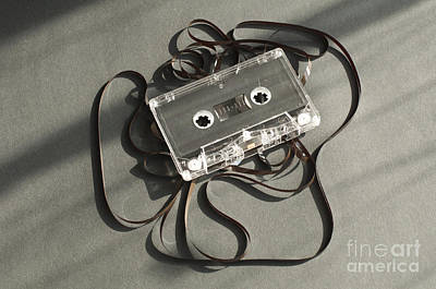 Audio Tape Cassette With Subtracted Out Tape.  Art Print by Deyan Georgiev