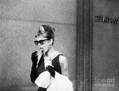 Actors Royalty Free Images - Audrey Hepburn In Breakfast At Tiffanys Royalty-Free Image by The Titanic Project