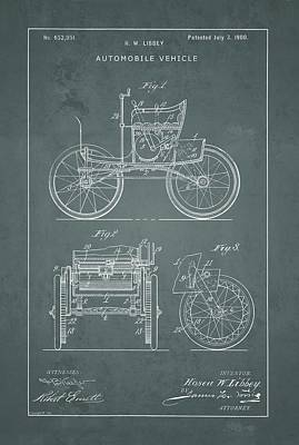 Drawing - Automobile Patent by Vintage Pix