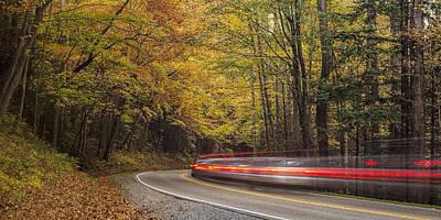 Vibrant Photograph - Autumn Drive by Andrew Soundarajan