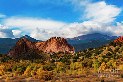 Steven Krull Royalty-Free and Rights-Managed Images - Autumn in Garden of the Gods by Steven Krull