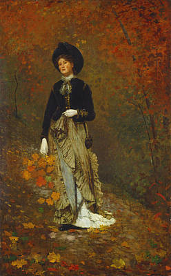 Winslow Homer Painting - Autumn by Winslow Homer
