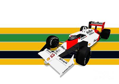 Andretti Digital Art - Ayrton Senna - Mclaren Honda Mp4/4 by Jeremy Owen