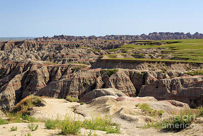 Badlands National Park South Dakota Art Print by Louise Heusinkveld