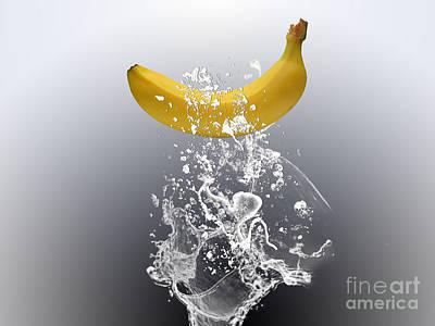Fruits Mixed Media - Banana Splash by Marvin Blaine